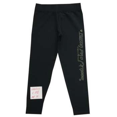 Černé legíny s nápisem na nohavici velikost M
